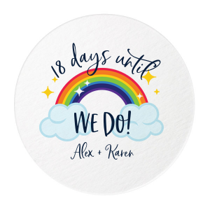 Rainbow We Do Photo/Full Color Coaster