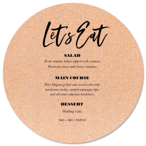 Let's Eat Modern Menu
