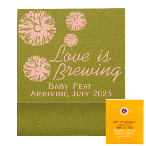 Groovy Flowers Love Is Brewing Tea Favor