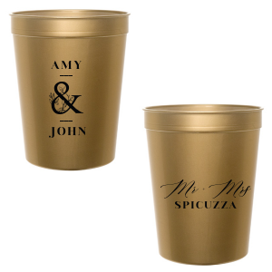 Floral Ampersand Mr and Mrs Stadium Cup