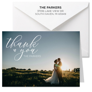 Script Thank You Full Color Note Card