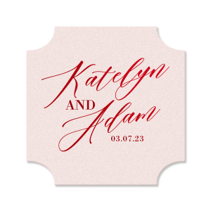 Statement Script Couple Coaster