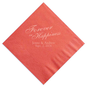 Forever In Happiness Napkin