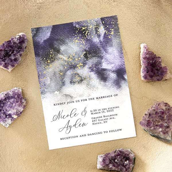 Full Color with Foil Invitations with Envelope