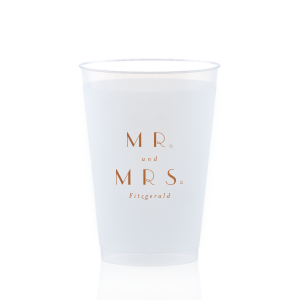 Champagne Bubbly Mr and Mrs Frost Flex Cup