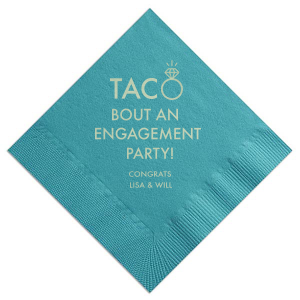 Taco Engagement Napkin