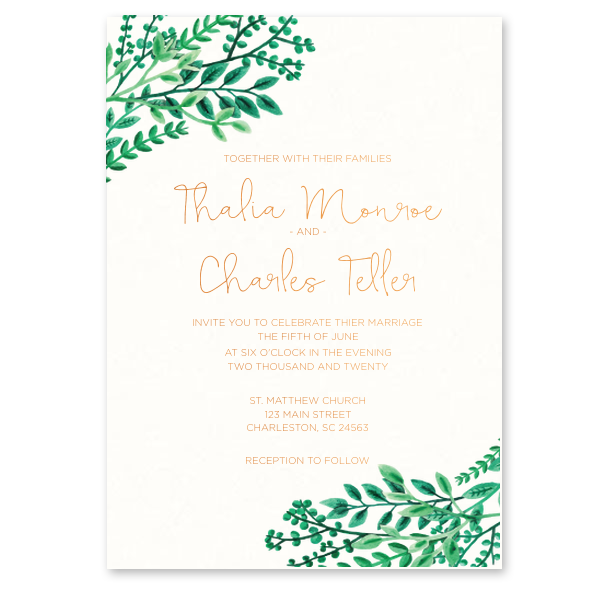 Custom Full Color with Foil Invitations / 10 Count / 5