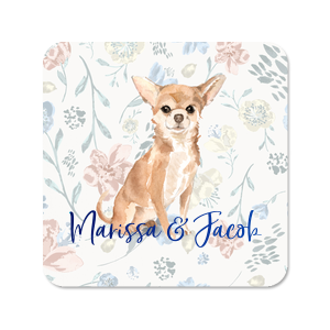 Dog Floral Full Color Coaster