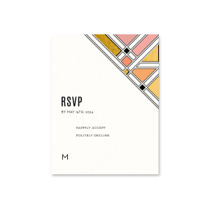 Geometric Deco RSVP Card