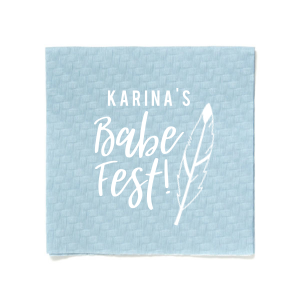 Babe Fest Feather Napkin