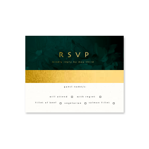 Modern Forest Full Color RSVP Card