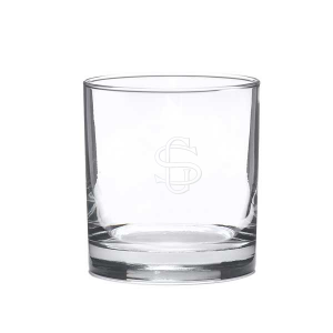 Interlocking Monogram Glass