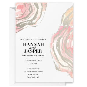 Watercolor Oyster Invitation