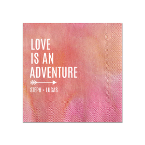Love is an Adventure Napkin