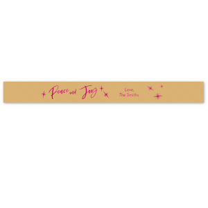 Peace And Joy Ribbon