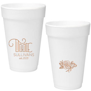 16 oz  Styrofoam Cups | Personalized Styrofoam Cups | For Your Party