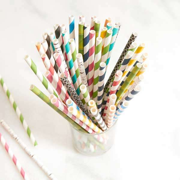 Patterned Straws - Pack of 50