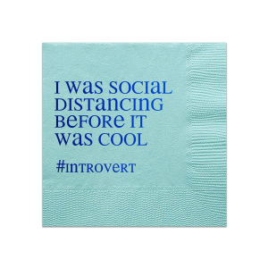 Introvert Social Distancing Napkin