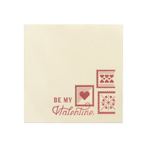 Be My Valentine Stamp Napkin