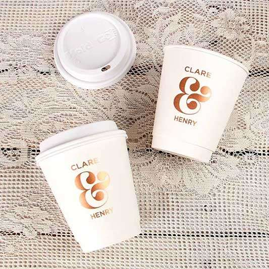 12 oz Paper Coffee Cup with Lid