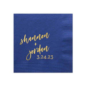 Script Names And Date Napkin