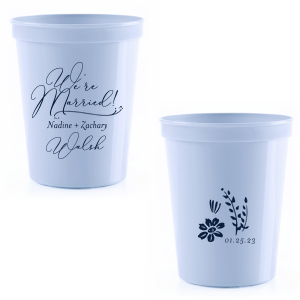 We're Married Bold Script Stadium Cup