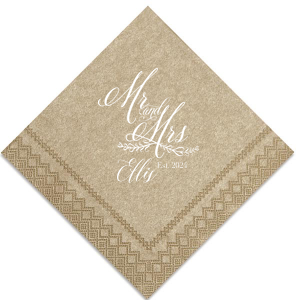 Elegant Mr and Mrs Napkin