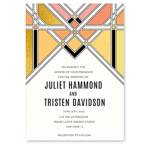 Geometric Deco Invitation