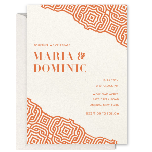 Sweet Harvest Maze Wedding Invitation