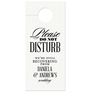 Formal Please Do Not Disturb Door Hanger