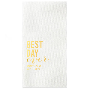 Best Day Block Napkin
