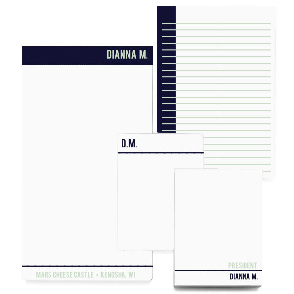 Business notepad gift set personalized with names