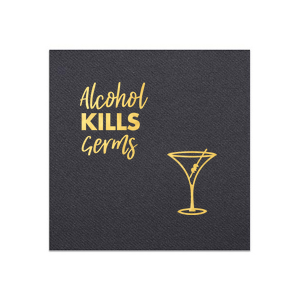 Alcohol Kills Germs Napkin