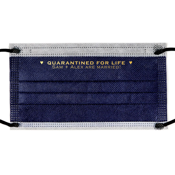Quarantined for Life Navy Earloop Disposable face Mask