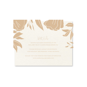Linear Floral One Color Details Card