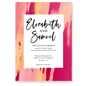 Vibrant Paint Stroke Invitation