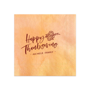 Happy Thanksgiving Family Napkin