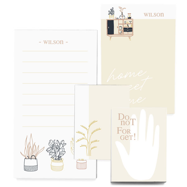 Customized Notepad Gift Set with bohemian design