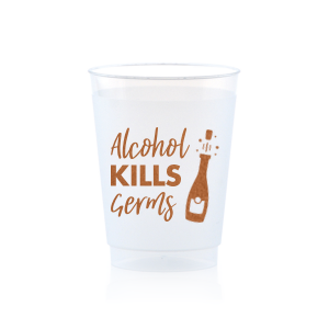 Alcohol Kills Germs Frosted Cup
