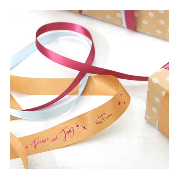 Assorted personalized ribbon