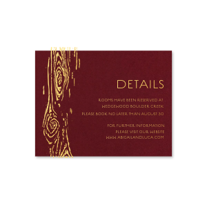Woodgrain Edge Details Card