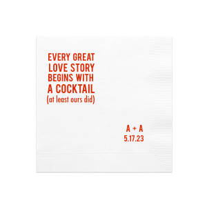 Block Love Story Cocktail Napkin