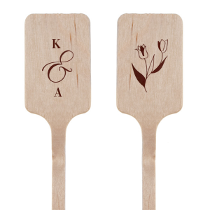Initials Flower Accent Stir Stick