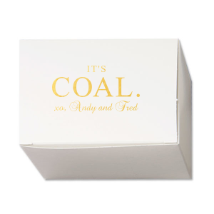 It's Coal Christmas Gift Box