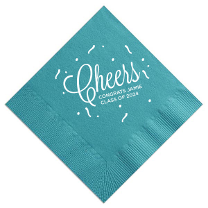 Cheers Long Confetti Napkin