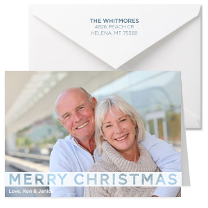 Merry Christmas Full Color Note Card