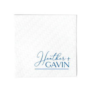 Script And Modern Names Napkin