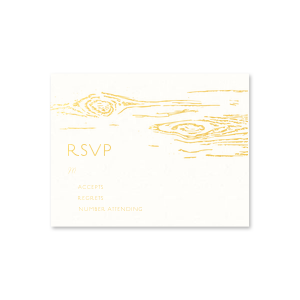 Woodgrain Edge RSVP Card