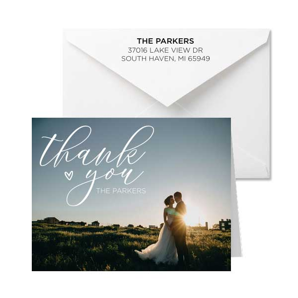 Full color/Photo A7 folded cards customized with photo or full color design