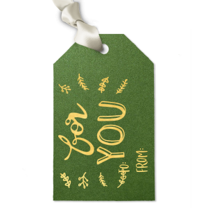 Season's Greetings Holiday Gift Tag